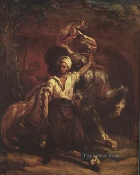 Blacksmith Painting - Blacksmiths signboard Romanticist Theodore Gericault