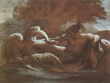 Theodore Gericault Painting - Leda and the swan Romanticist Theodore Gericault