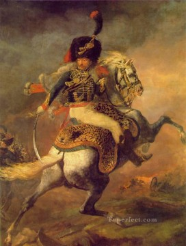 officer Oil Painting - An Officer Charging MHA Romanticist Theodore Gericault