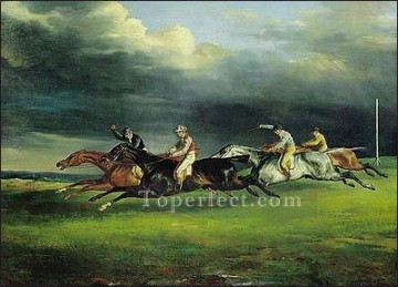 by Works - Derby at Epsom ARX Romanticist Theodore Gericault