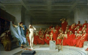 greek Painting - Phryne before the Areopagus Greek Arabian Orientalism Jean Leon Gerome
