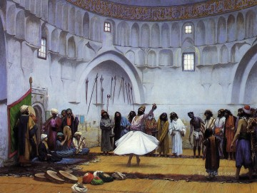 greek Painting - Whirling Dervishes Greek Arabian Orientalism Jean Leon Gerome