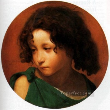 Portrait of a Young Boy Jean Leon Gerome Oil Paintings