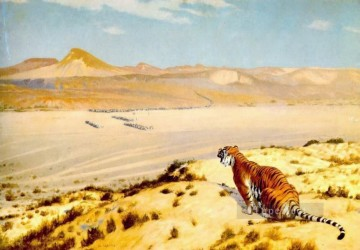 Tiger on the Watch2 Greek Arabian Orientalism Jean Leon Gerome Oil Paintings
