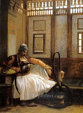 greek Painting - Arnaut smoking Greek Arabian Orientalism Jean Leon Gerome