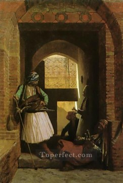 greek Painting - Arnauts of Cairo at the Gate of BabelNasr Greek Arabian Jean Leon Gerome