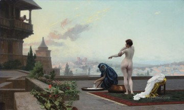 bath girl oil painting Painting - Bathsheba Greek Arabian Orientalism Jean Leon Gerome