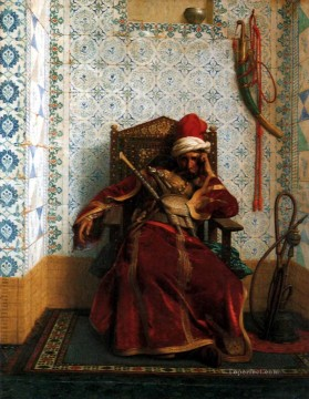 greek Painting - Markos Botsaris Greek Arabian Orientalism Jean Leon Gerome
