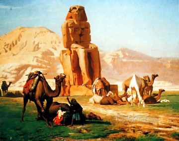 greek Painting - The Colossus of Memnon Greek Arabian Orientalism Jean Leon Gerome