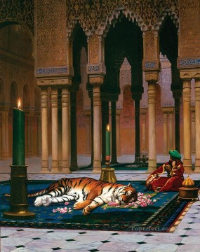 greek Painting - The Grief of the Pasha Greek Arabian Orientalism Jean Leon Gerome