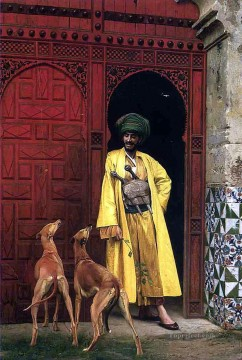 greek Painting - An Arab and his Dog Greek Arabian Orientalism Jean Leon Gerome