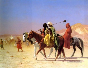 cross - Arabs crossing the Desert Greek Arabian Orientalism Jean Leon Gerome