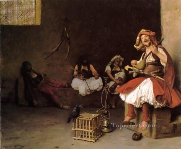 greek Painting - BashiBazouk singing Greek Arabian Orientalism Jean Leon Gerome