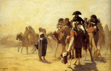 greek Painting - General Baonaparte With His Military Staff In Egypt Greek Arabian Orientalism Jean Leon Gerome