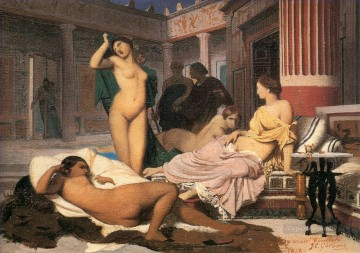 greek Painting - Greek Interior sketch Greek Arabian Orientalism Jean Leon Gerome