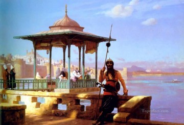 greek Painting - Harem in the Kiosk Greek Arabian Orientalism Jean Leon Gerome