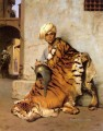 Pelt Merchant of Cairo Greek Arabian Orientalism Jean Leon Gerome oil painting
