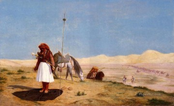 greek Painting - Prayer in the Desert Greek Arabian Orientalism Jean Leon Gerome