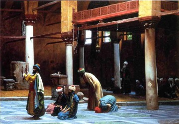 greek Painting - Prayer in the Mosque Greek Arabian Orientalism Jean Leon Gerome