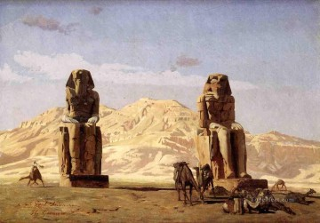 greek Painting - The Memnon and Sesostris Greek Arabian Orientalism Jean Leon Gerome