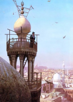 The Muezzins call to prayer Greek Arabian Orientalism Jean Leon Gerome Oil Paintings