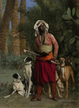 The Negro Master of the Hounds Greek Arabian Orientalism Jean Leon Gerome Oil Paintings