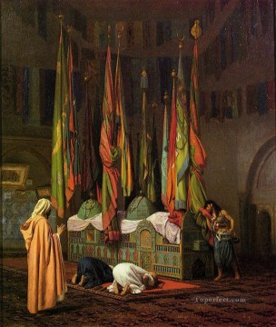 The Tombe of Hazrat Imam Hisain Allahis Salam Greek Arabian Orientalism Jean Leon Gerome Oil Paintings