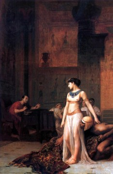 greek Painting - Cleopatra before Caesar Greek Arabian Orientalism Jean Leon Gerome