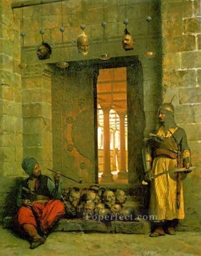 greek Painting - Heads of the Rebel Beys Greek Arabian Orientalism Jean Leon Gerome