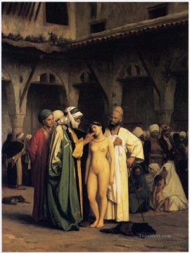 greek Painting - Slave Market Greek Arabian Orientalism Jean Leon Gerome