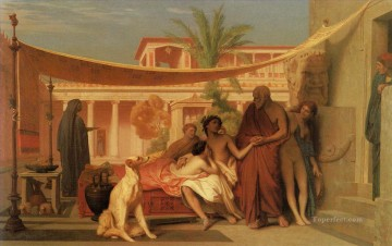 Socrates seeking Alcibiades in the House of Aspasia Greek Arabian Jean Leon Gerome Oil Paintings