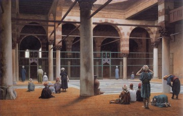 1870 Canvas - Interior of a Mosque 1870 Greek Arabian Orientalism Jean Leon Gerome
