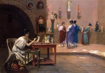 painting Oil Painting - Painting Breathes Life into Sculpture 1893 Greek Arabian Orientalism Jean Leon Gerome