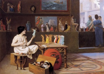 painting Oil Painting - Painting Breathes Life into Sculpture Greek Arabian Orientalism Jean Leon Gerome
