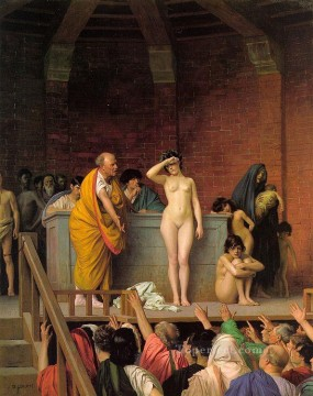 greek Painting - Slave Auction Greek Arabian Orientalism Jean Leon Gerome