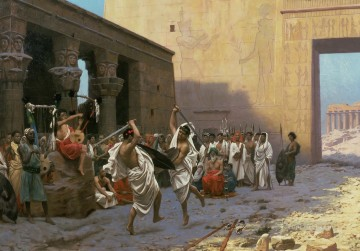 greek Painting - The Pyrrhic Dance Greek Arabian Orientalism Jean Leon Gerome