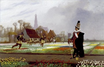 greek Painting - The Tulip Folly Greek Arabian Orientalism Jean Leon Gerome