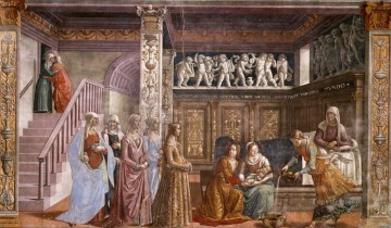 Birth Of Mary Renaissance Florence Domenico Ghirlandaio Oil Paintings