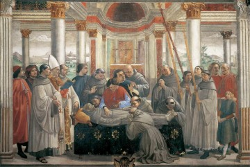 renaissance Painting - Obsequies Of St Francis Renaissance Florence Domenico Ghirlandaio