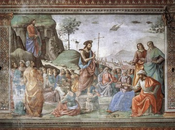 Preaching Of St John The Baptist Renaissance Florence Domenico Ghirlandaio Oil Paintings
