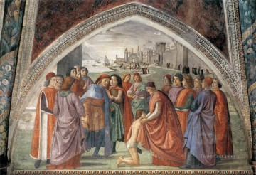 Renunciation Of Worldy Goods Renaissance Florence Domenico Ghirlandaio Oil Paintings