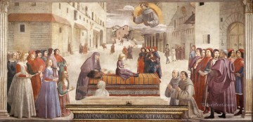 renaissance Painting - Resurrection Of The Boy Renaissance Florence Domenico Ghirlandaio