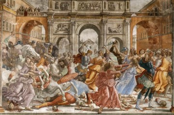 renaissance Painting - Slaughter Of The Innocents Renaissance Florence Domenico Ghirlandaio
