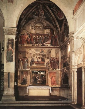 View Of The Sassetti Chapel Renaissance Florence Domenico Ghirlandaio Oil Paintings