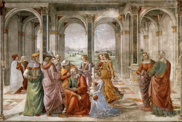 Zacharias Writes Down The Name Of His Son Renaissance Florence Domenico Ghirlandaio Oil Paintings