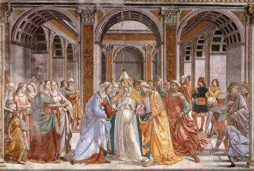 marriage Of Mary Renaissance Florence Domenico Ghirlandaio Oil Paintings