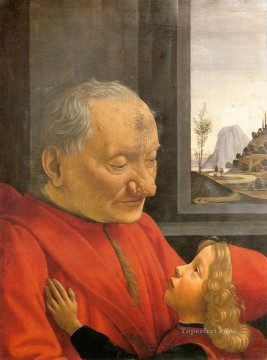 grand Painting - An Old Man And His Grandson Renaissance Florence Domenico Ghirlandaio