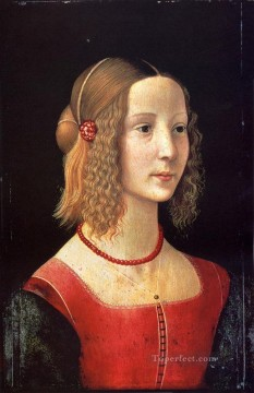 Portrait Of A Girl Renaissance Florence Domenico Ghirlandaio Oil Paintings