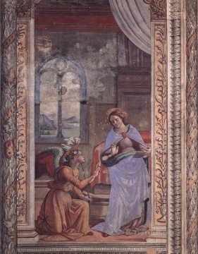 annunciation Painting - Annunciation Renaissance Florence Domenico Ghirlandaio