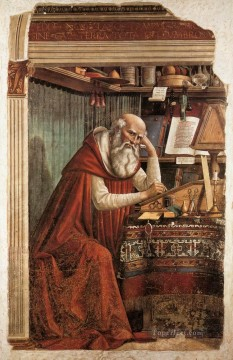 renaissance Painting - St Jerome In His Study Renaissance Florence Domenico Ghirlandaio